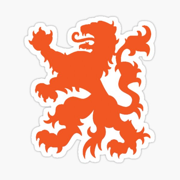 Dutch Lion Nederlandse Leeuw Je Maintiendrai Sticker