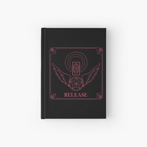 Pink cardcaptor sakura inspired logo Hardcover Journal