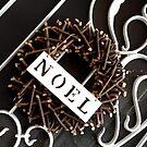 Noel Christmas Wreath by Coralie Alison