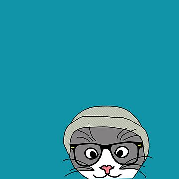 Hipster cat by TatiDuarte