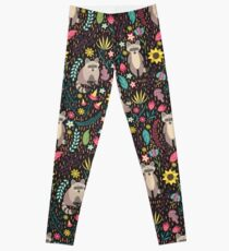 Raccoons bright pattern Leggings