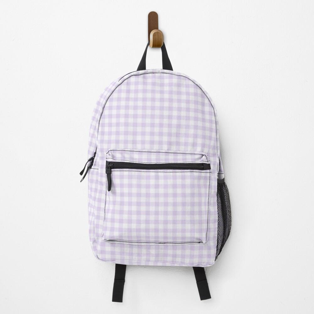 Lavender gingham Backpack