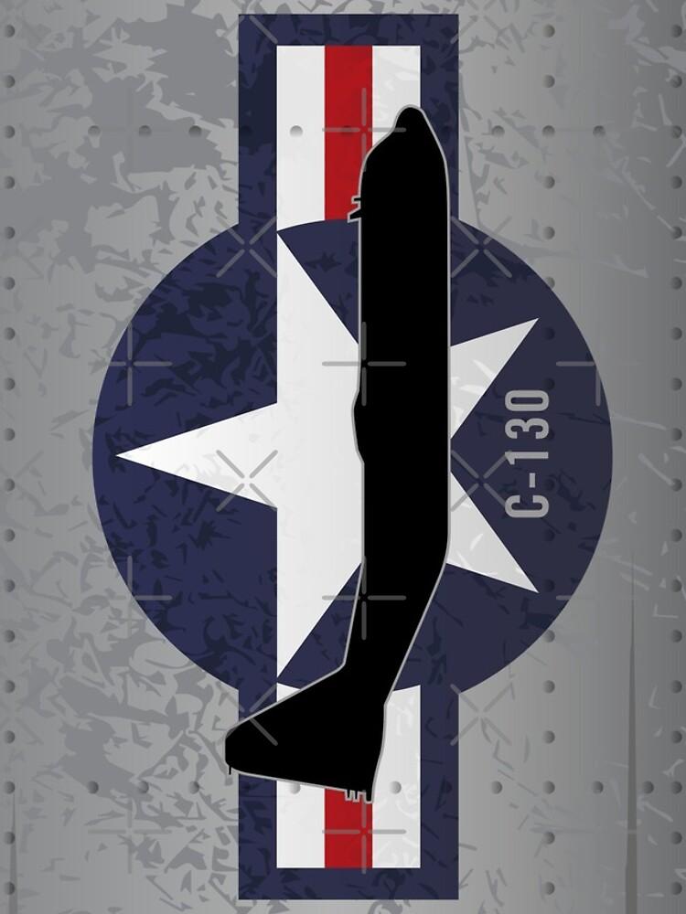C-130 Hercules Military Airplane by hobrath