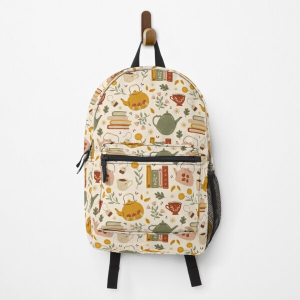 Flowery Books and Tea Backpack