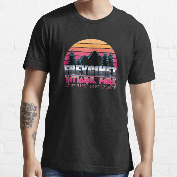 Freycinet National Park with GPS Location Classic 80's Design  Essential T-Shirt