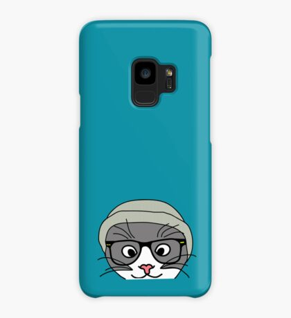 Hipster cat Case/Skin for Samsung Galaxy