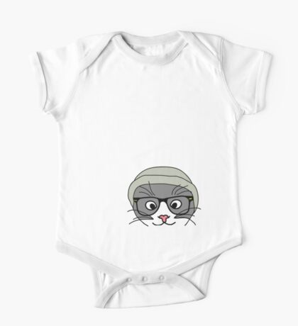Hipster cat Kids Clothes