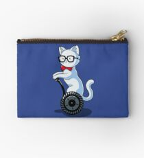 White and Nerdy Zipper Pouch