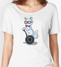 White and Nerdy Women's Relaxed Fit T-Shirt