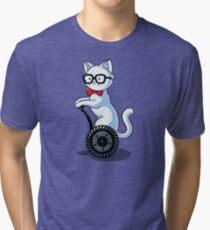White and Nerdy Tri-blend T-Shirt