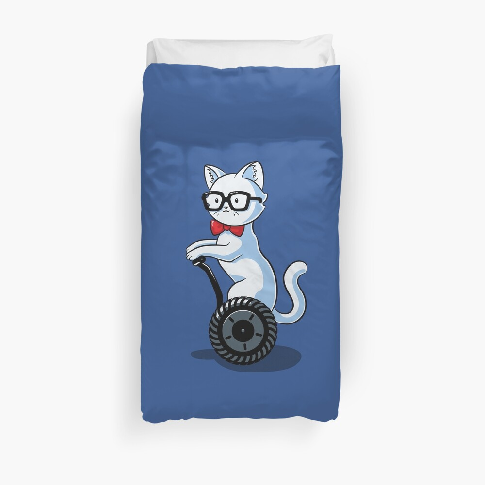 White and Nerdy Duvet Cover