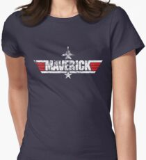Custom Top Gun Style - Maverick Womens Fitted T-Shirt