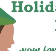 A Dwight Schrute Holiday Sticker
