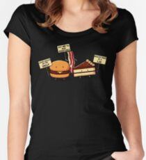 Occupy Stomach Women's Fitted Scoop T-Shirt