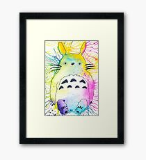 Pen and Ink Totoro Framed Print
