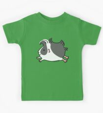 Leaping Guinea-pig ... Black and White  Kids Tee