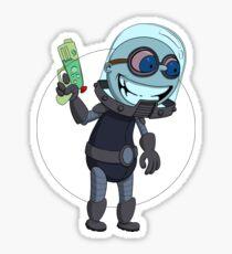 Mr Freeze heats things up Sticker