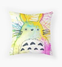 Pen and Ink Totoro Throw Pillow