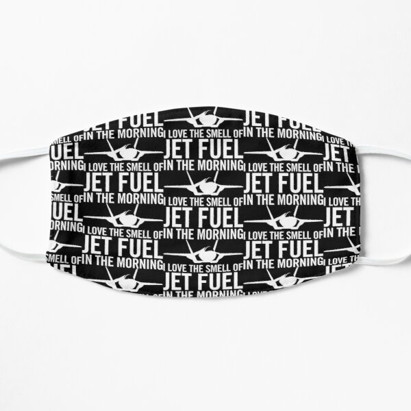 """F-35 Lightning II """"I love the smell of jet fuel in the morning"""" Flat Mask"""