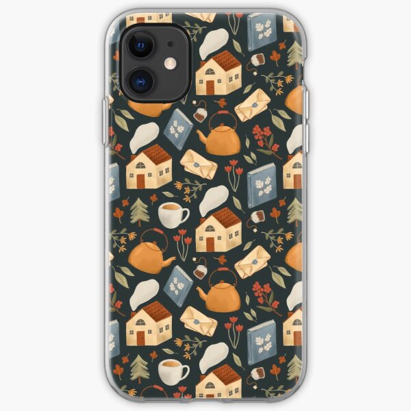 Cozy Cottage Pattern iPhone Soft Case