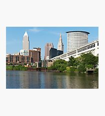 Cleveland From The River Bank Photographic Print