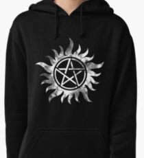 Anti-Possession (white) Pullover Hoodie