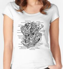 Detroit POWER! Women's Fitted Scoop T-Shirt