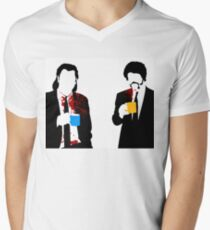 Camiseta de cuello en V Café gourmet