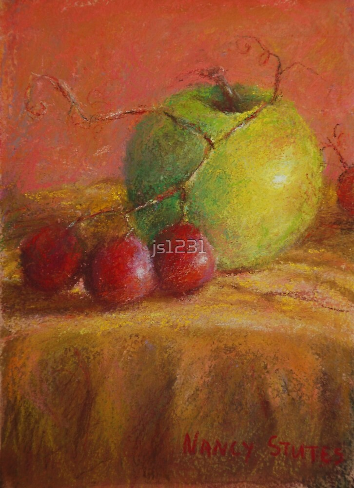 Green Apple Print by js1231