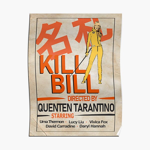 Kill Bill Poster Design Póster