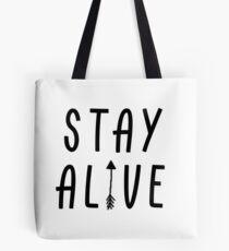 Stay Alive - Hunger Games (Black) Tote Bag