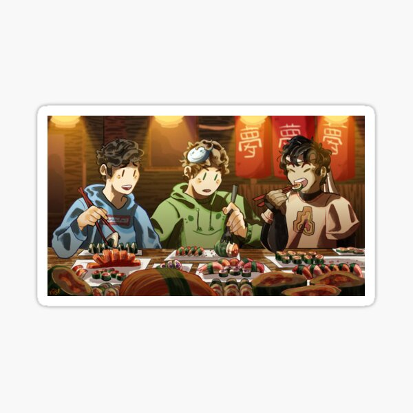 The Dreamteam eats sushi together Sticker