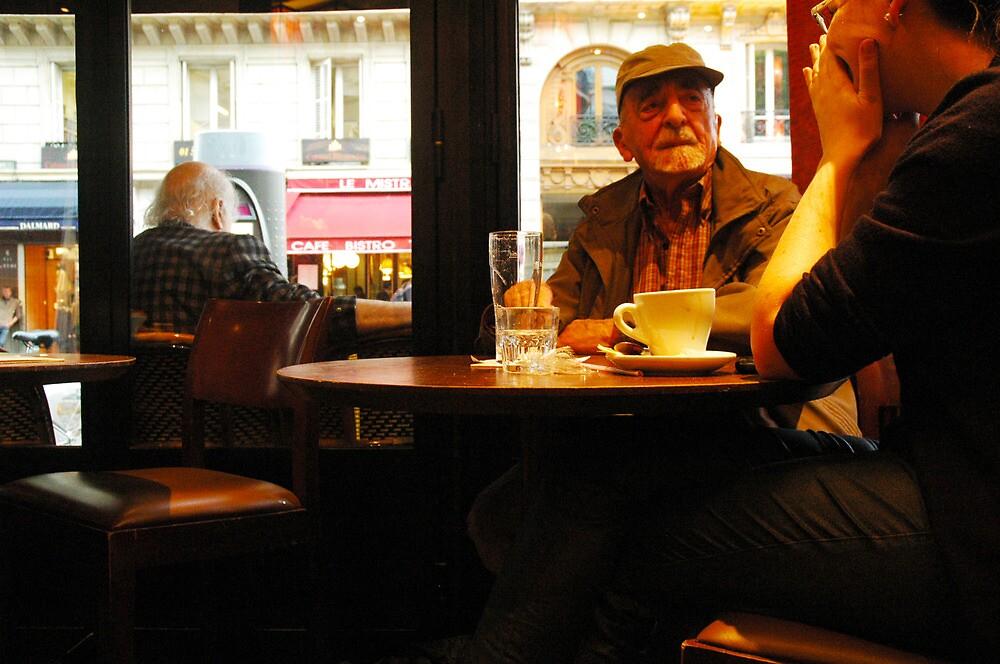Paris cafe by Stephen Elias