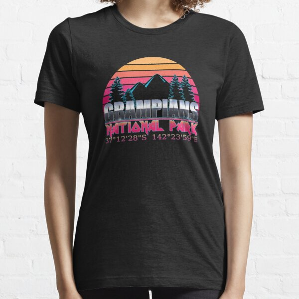 Grampians National Park with GPS Location Classic 80's Design  Essential T-Shirt