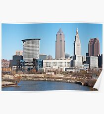 Downtown Cleveland Skyscrapers Poster