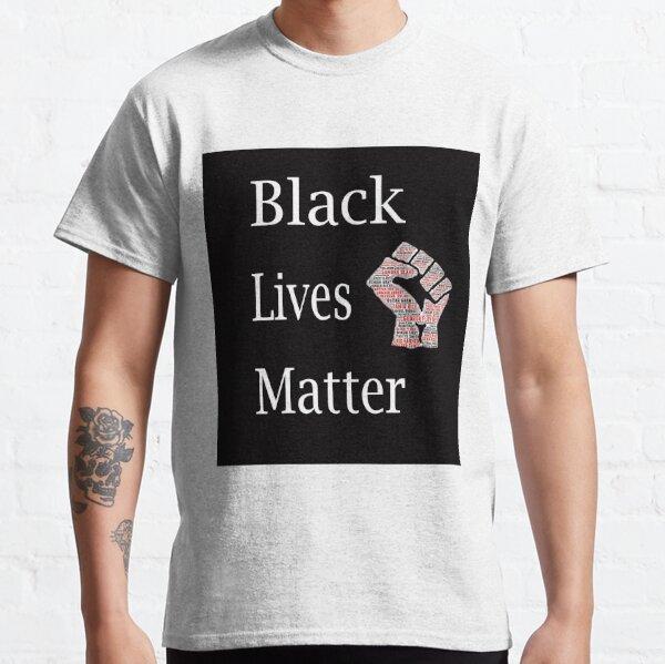 Noir vie matière t shirt-BLM Fist Logo-Noir vie Matter
