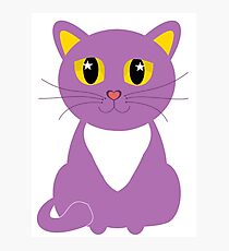 Only One Purple Kitty Photographic Print