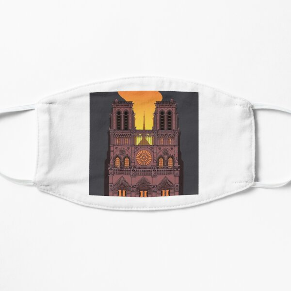 Notre Dame on Fire (Night) Mask