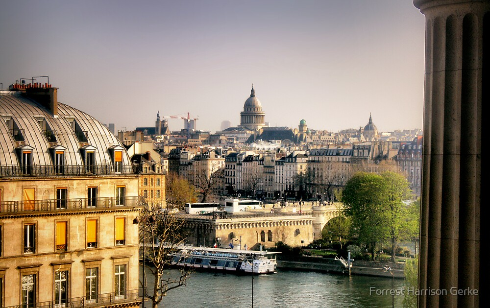 View of Paris from the Louvre by Forrest Harrison Gerke