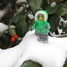LEGO Mini Eskimo in Holly  by ArtShopEtc