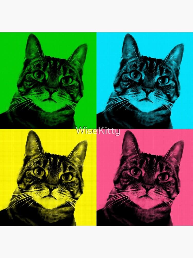 Tabby Pop Art Cat Art Pet Art by WiseKitty