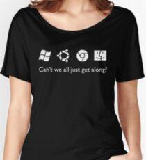 Get Along (B&W) Women's Relaxed Fit T-Shirt