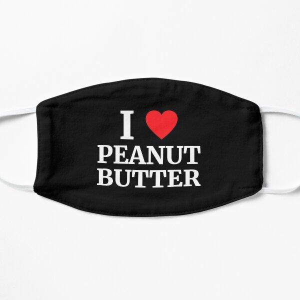 I Love Peanut Butter Heart  Flat Mask