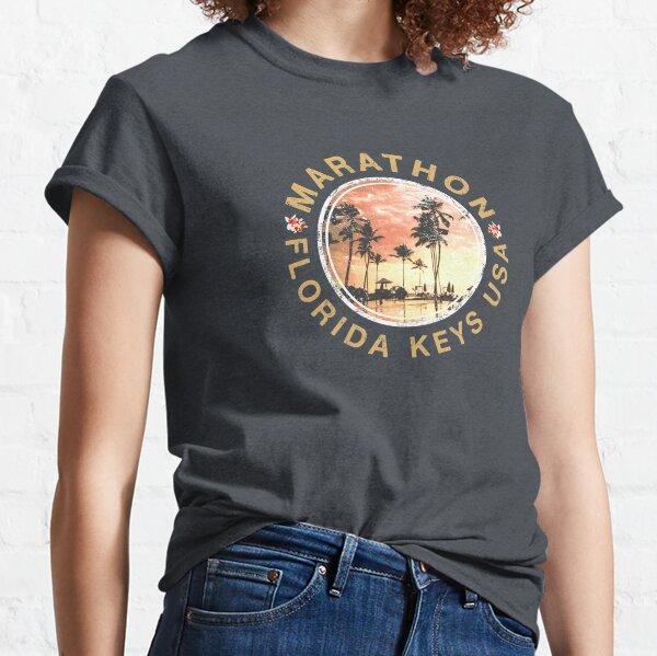 Florida Keys Marathon Retro Sunset Vintage Classic T-Shirt