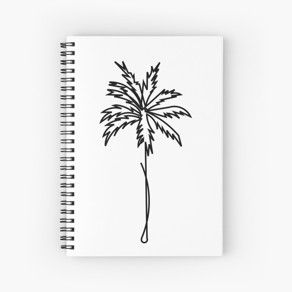 single line Palm tree Spiral Notebook