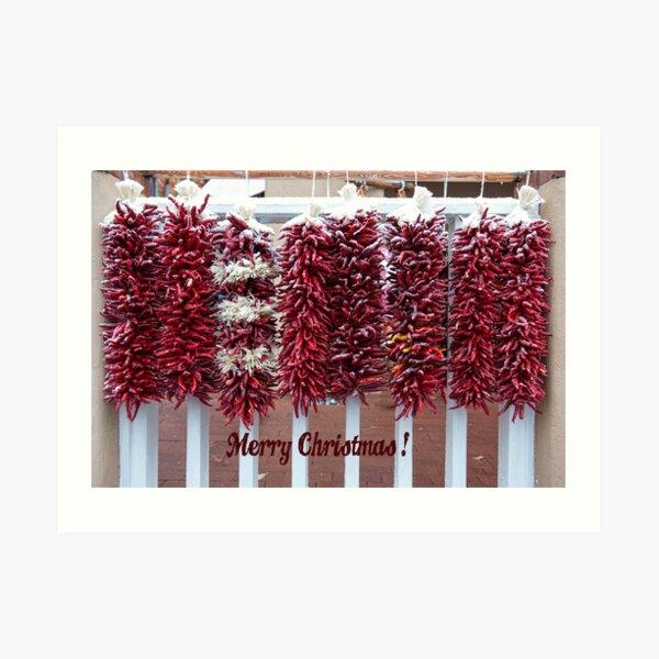 Chilli Christmas Art Print