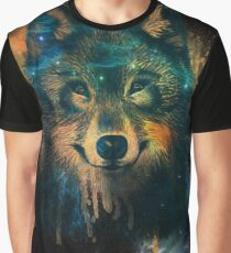 Galaxy Wolf Graphic T-Shirt