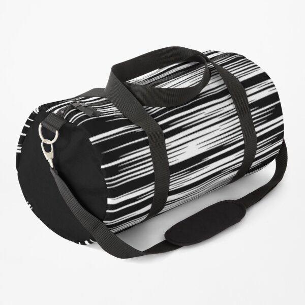 Black and White Wave Pattern Duffle Bag