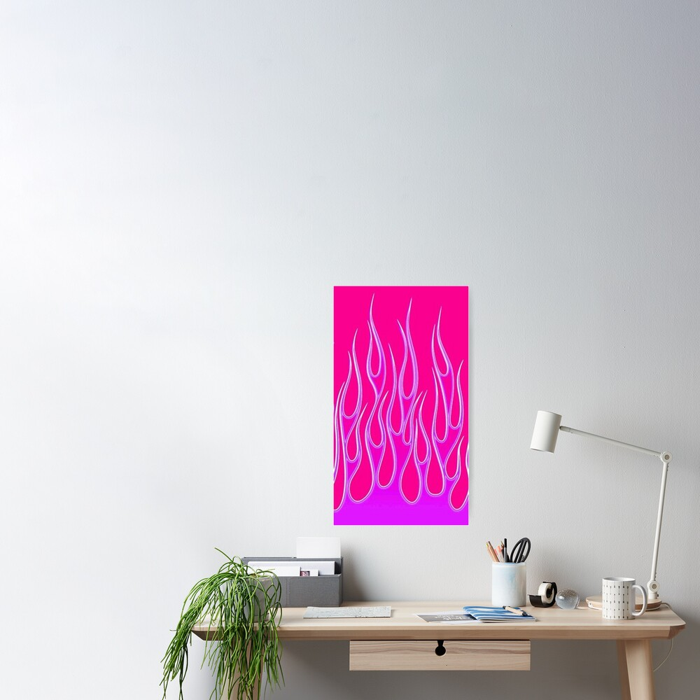 pink and lilac fire Poster