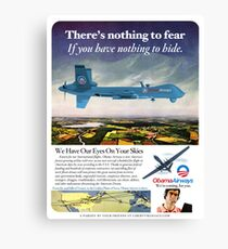 Obama Airways Drone Parody Poster Canvas Print